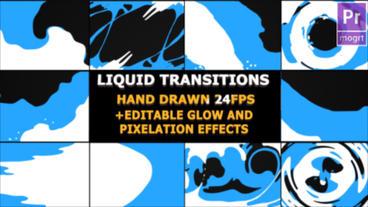 Liquid Transitions モーショングラフィックステンプレート