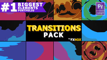 Liquid Transitions Motion Graphics Template