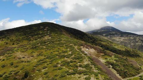 Top of the carpathian mountan in Ukraine - Drone ビデオ