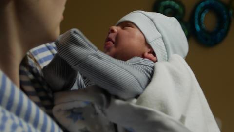 Mother Holds Newborn Footage