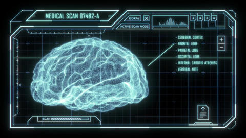 Holographic Brain Scan HUD Animation