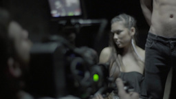 The camera captures the actress-model Footage