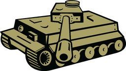 World War Two German Panzer Tank Aiming ベクター