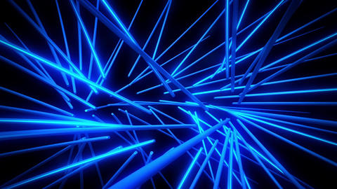 Blue Neon Tubes Vortex VJ Loop Abstract Motion Background Animation