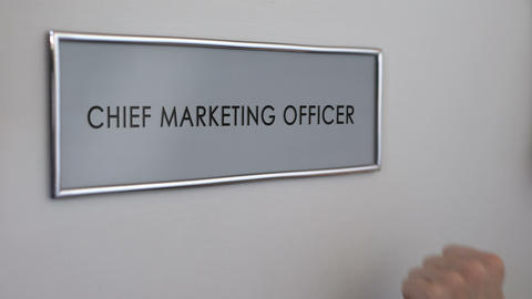 Chief marketing officer door, hand knocking closeup, brand manager, market Live Action