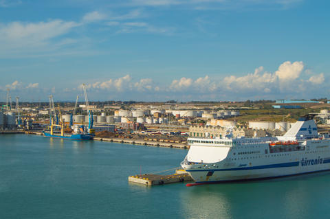 Port of Civitavecchia-the capital of Rome, an important cargo port for Maritime Photo