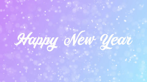 Happy New Year Greeting card text with beautiful snow and…, Stock Animation