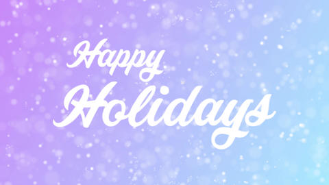 Happy Holidays Greeting card text with beautiful snow and…, Stock Animation