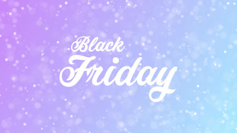 Black Friday Greeting card text with beautiful snow and stars particles Animation