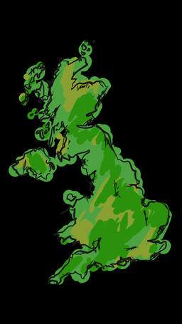 Paint Britain Map Animation