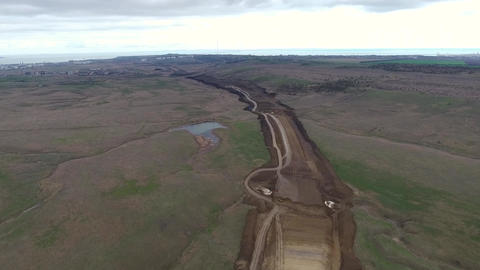 Construction of the pipeline. Site construction.… Stock Video Footage