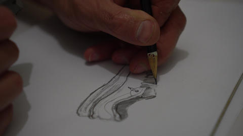 A Man Shoes design sketching Footage