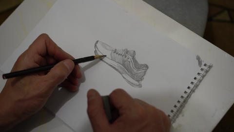 Sketch of a sneakers Live Action