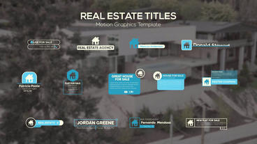 Real Estate Titles Motion Graphics Template