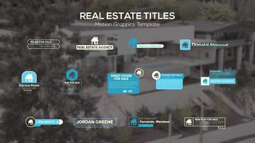 Real Estate Titles モーショングラフィックステンプレート