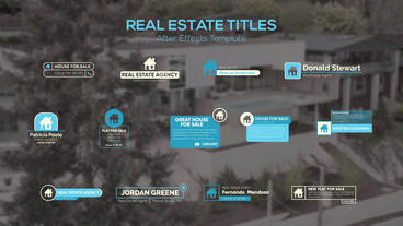 Real Estate Titles After Effects Template