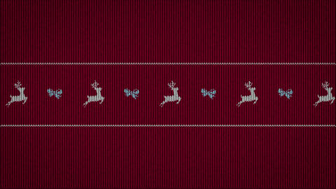 simple funny animation on sweater pattern CG動画