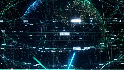 Global digital word CG動画
