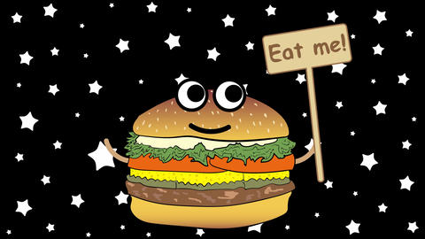 Eat me and stars Animación