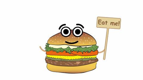 Sad cheeseburger and fly agaric Animation