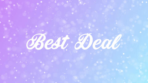 Best Deal Greeting card text with beautiful snow and stars particles Animation