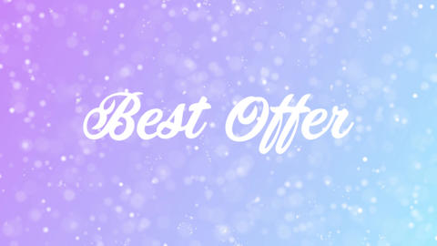 Best Offer Greeting card text with beautiful snow and stars particles Animation