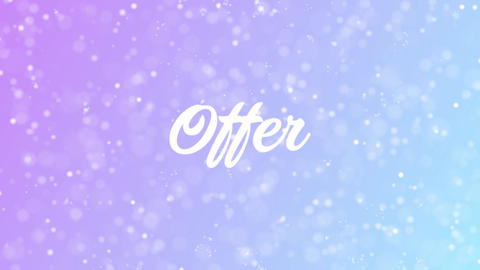 Offer Greeting card text with beautiful snow and stars particles Animation