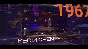 Hi-tech Media Opener After Effects Template