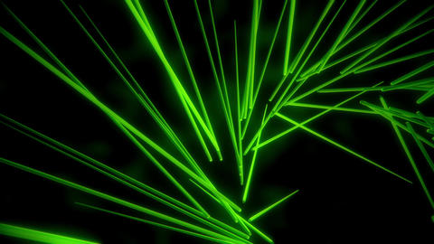Green Neon Tubes Vortex VJ Loop Abstract Motion Background Animation