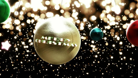 Gold Christmas Swinging Ornament CG動画素材