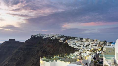 4K Santorini's Oia sunset timelapse ビデオ