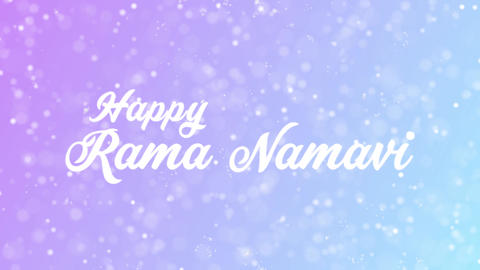 Happy Rama Namavi Greeting card text with beautiful snow and stars particles Animation