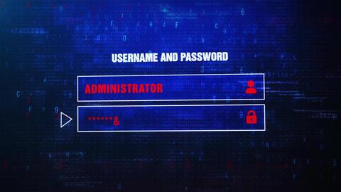 Online Crime Alert Warning Error Message Blinking on Screen ビデオ