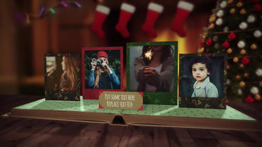 Christmas Pop Up Photo Book After Effects Template