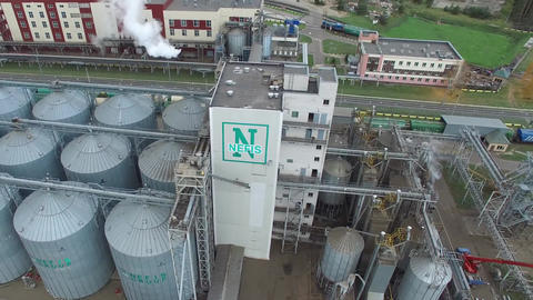 Fat plant. Factory for processing fat and oil. Food industrial production Live Action