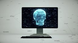 Malware Virus On Personal Computer 4K Footage