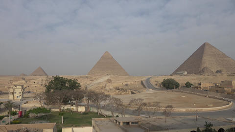 Pyramids of giza. Great pyramids of Egypt. The seventh wonder of the world. Live Action
