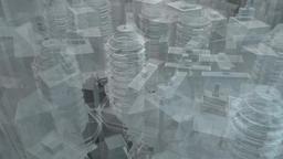 Technology buildings hologram Footage
