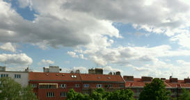 Timelapse With Clouds Above Roofs in Prague ビデオ