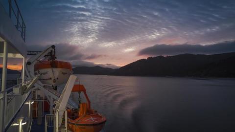 Cook Strait ferry journey Footage