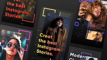 Instagram stories Plantilla de After Effects
