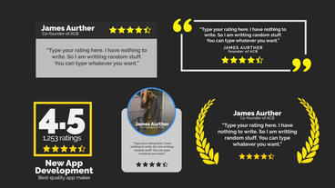 Review Pack After Effects Template