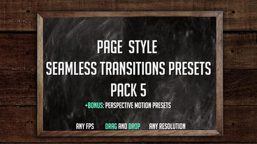 Page Style Seamless Transitions Presets (Pack 5) Premiere Pro Effect Preset