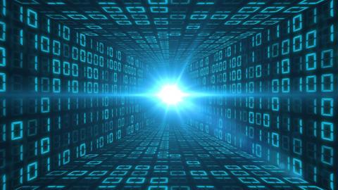 Tunnel of binary code Animation
