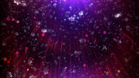 Christmas Snowflakes Background 4K Animation