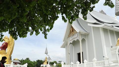 Thai White Temple Footage