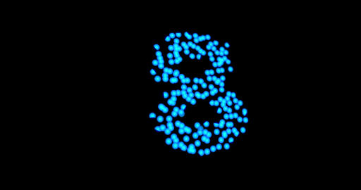 Countdown second simple blue morphing Stock Video Footage