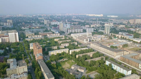 Panorama of the city of Novosibirsk. View of the bridges and the river Ob. ビデオ