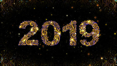 Gold Ornate 2019 New Year Animation Animation