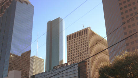 Driving into busy downtown Houston Footage